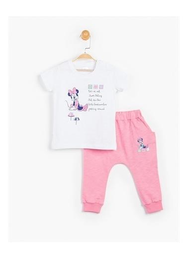 Disney Minnie Mouse 2 Li Takım Kız Çocuk Giyim Pembe